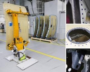 A350 Airplane Doors Carbonfaser